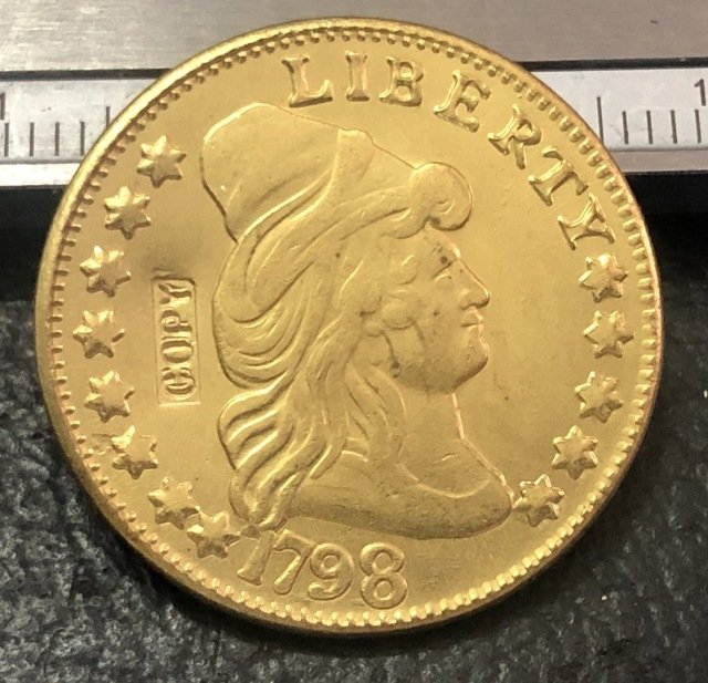1 Pcs 1798 Turban Head $5 Five Dollar Half Eagle And Shield Copy Coins  For Collection