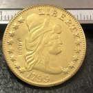 1 Pcs 1799 Turban Head $5 Five Dollar Half Eagle And Shield Copy Coins  For Collection