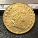 1 Pcs 1805 Turban Head $5 Five Dollar Half Eagle And Shield Copy Coins  For Collection