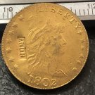 1 Pcs 1802 Turban Head $2.5 Dollar Copy Coins  For Collection