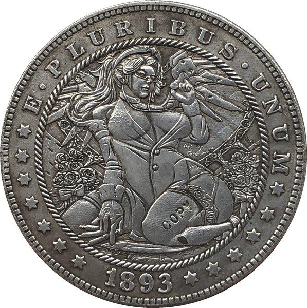 Hobo Nickel 1893-S USA Morgan Dollar COIN COPY Type 150