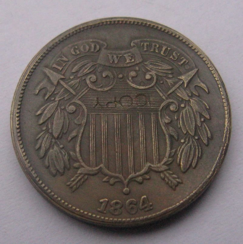 1 Pcs US 1864 Two Cent Copy Coins