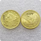1 Pcs USA 1848 Liberty $2.5 Quarter Eagle Gold Copy Coins  For Collection