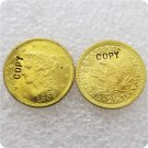 1 Pcs USA 1854-S Liberty $2.5 Quarter Eagle Gold Copy Coins  For Collection