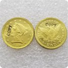 1 Pcs USA 1855-D Liberty $2.5 Quarter Eagle Gold Copy Coins  For Collection