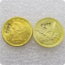 1 Pcs USA 1856 Liberty $2.5 Quarter Eagle Gold Copy Coins  For Collection