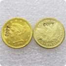 1 Pcs USA 1856-D Liberty $2.5 Quarter Eagle Gold Copy Coins  For Collection