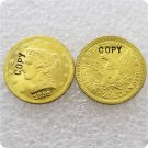 1 Pcs USA 1856-S Liberty $2.5 Quarter Eagle Gold Copy Coins  For Collection