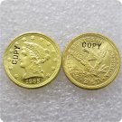 1 Pcs USA 1865 Liberty $2.5 Quarter Eagle Gold Copy Coins  For Collection