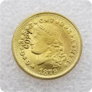 1 Pcs USA 1879 $4 Stella Flowing Hair Four Dollar Gold Copy Coins  For Collection