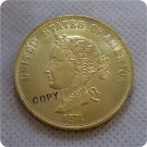 1 Pcs USA 1874 Bickford $10.00 Eagle Patterns Ten Dollar Gold Copy Coins  For Collection