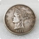 1 Pcs USA 1873 Beaded Coronet Trade Dollar Patterns Copy Coins  For Collection