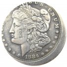 1 Pcs US 1884-O Morgan Dollar Off-Center Silver Plated Copy Coin  For Collection