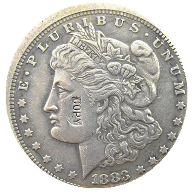 1 Pcs US 1883-O Morgan Dollar Off-Center Silver Plated Copy Coin  For Collection