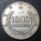 1960 Finland 1000 Markkaa Snellman Silver Copy Coin