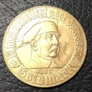 1923 Germany Notgeld 1 Goldmark-Bielefeld Gold Copy Coin