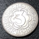 1927 Germany-1871-1948 3 Reichsmark Nordhausen Silver Plated Copy Coin