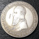 1927-F Germany-1871-1948 5 Reichsmark Tubingen University Silver Plated Copy Coin