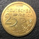 1908 Germany 25 Pfennig-Wilhelm II Trial strike Copper Copy Coin