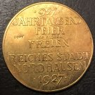 1927 Bronze medal the establishment of the City of 1000th anniversary Copy medal 45mm