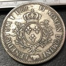 1769 France - Kingdom 1 Ecu - Louis XV Silver Plated Copy Coin