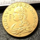 1738 France 1 Louis d'Or Copy Gold Coin