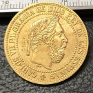 1875 Spain 5 Centimos-Carlos VII Copy Coin