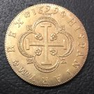1699 Spain 8 Escudos - Carlos II Seville Gold Copy Coin