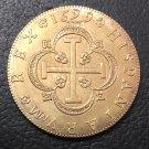 1699 Spain 8 Escudos - Carlos II Seville Gold Copy Coin