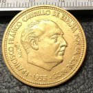 1953 Spain 2.5 Pesetas-Francisco Franco Bronze Copy Coin