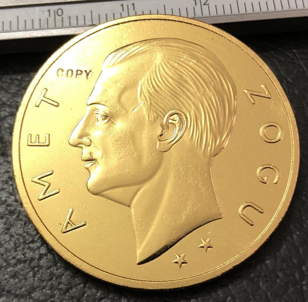 1926 Albania 100 Franga Ari-Zog Gold Coin Copy