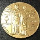 1903 Italy 100 Lire-Vittorio Emanuele III Gold Copy Coin