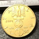 1936 Itlay 50 Lire Gold Copy Coin