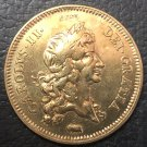 1682 England 2 Guineas - Charles II .9999 pure Gold Plated Copy Coin