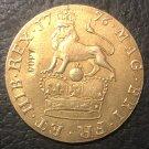 1776 United Kingdom 1/3 Guinea Copy Gold Coin