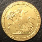 1817 United Kingdom 1 Sovereign - George III 9999 pure Gold Plated Copy Coin