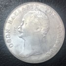 1851 Greece 5 Drachmai-Othon Silver Plated Copy Coin