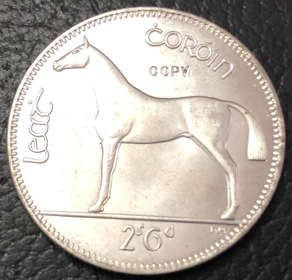 1943 Ireland 1/2 Coroin Silver Plated Copy Coin
