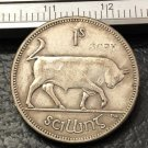 1928 Ireland 1 Scilling Silver Plated Copy Coin