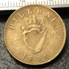 """1806 Ireland 1 Farthing-George II (type"""".D:G.REX."""" Copper Metal Copy Coin"""