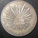 1891 Mexico 8 Reales Copy Coin