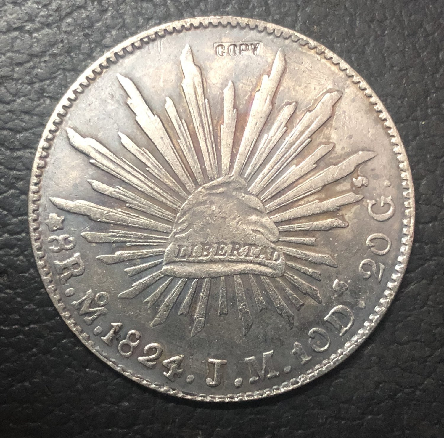 1824 Mexico 8 Reales Copy Coin