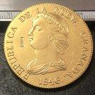 1846 Colombia 16 Pesos (Republic of Nueva Granada) Gold Copy Coin