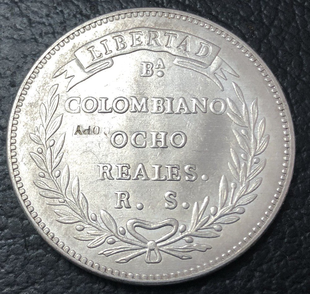 1846 Colombia 16 Pesos (Republic of Nueva Granada) Gold Copy Coin
