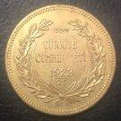 1923/25 Turkey 500 Kurus 22k Gold plated exact Copy Coin