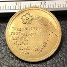 1973 Turkey 500 Lira Republic Gold Copy Coin