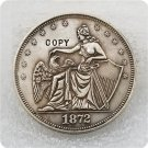 1872 Seated Liberty Shield & Eagle Half Dollar Copy Coin No Stamp