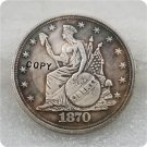 1870 Indian Headdress Dollar Copy Coin No Stamp