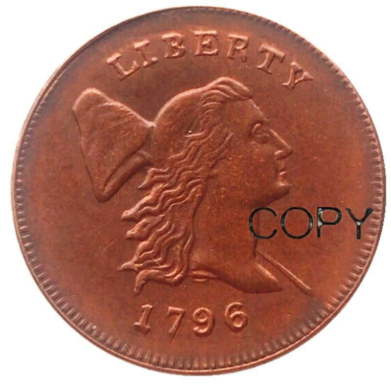 1796 Liberty Cap Head Right Half Cents 100% Copper Copy Coins No Stamp