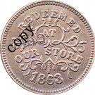 USA Civil War 1863 Copy Coins #17 No Stamp